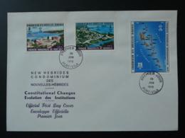 FDC Constitutional Changes Evolution Des Institutions Nouvelles Hebrides Oblit. Port Vila 1976 - FDC