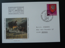 Carte FDC Diligence Journée Du Timbre Tag Der Briefmarke Steffisburg Suisse 1978 - Pro Juventute