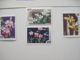 Taiwan 1958 Flora Flowers Orchids MVLH - Orchids