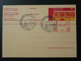 Obliteration Postmark Vin Wine Sur Entier Postal Epesses Suisse 1982 - Vins & Alcools