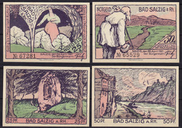 Rheinland-Pfalz - Bad Salzig - 25 U. 50 Pfennig Notgeld 1921     (11444 - Duitsland
