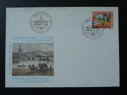 Lettre FDC Pro Juventute Journée Du Timbre Tag Der Briefmarke Vevey Suisse 1984 - Lettres & Documents