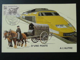 Carte Maximum Carte Diligence Stage Coach Journée Du Timbre Lyon 1986 - Diligences