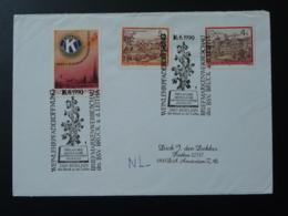 Vin Wine Obliteration Sur Lettre Postmark On Cover Hoflein Autriche Austria 1990 - Vins & Alcools