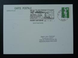 Vin Wine Flamme Sur Entier Postal Mairianne De Briat Postmark Mussy Sur Seine 10 Aube 1990 - Vins & Alcools