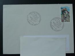 Obliteration Sur Lettre Postmark On Cover Ours Polaire Polar Bear Roald Amundsen 76 Caudebec En Caux 2003 - Explorateurs & Célébrités Polaires