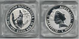 1992 AUSTRALIA - Kookaburra - 1 Dollars FDC PROOF - Argento / Argent / Silver  999 / 1000 - Confezione Originale (3 Foto - Moneta Decimale (1966-...)
