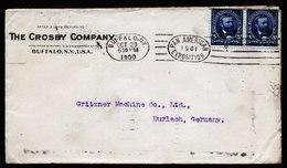 A5849) US Firmenbrief Buffalo 29.10.1900 N. Germany Werbestempel PAN AM EXPO - Vereinigte Staaten
