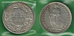 SVIZZERA 1955 - Helvetia - 2 Fr / CHF - BB / SPL  - Argento / Argent / Silver - Confezione In Bustina - Svizzera