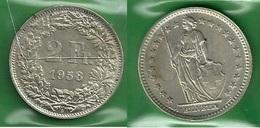 SVIZZERA 1958 - Helvetia - 2 Fr / CHF - BB / SPL  - Argento / Argent / Silver - Confezione In Bustina - Svizzera