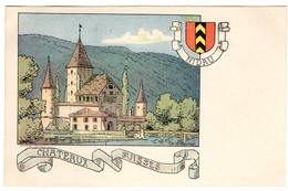 CPA - Nidau - Châteaux Suisses - Illustration  Ch.A.reuter - BE Berne
