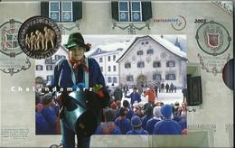 SVIZZERA 2003 - CHALANDAMARZ - DIVISIONALE FDC - N.° 9 Pezzi - Con 5 + 5 CHF (Fr. Sv.) - Confezione Originale (3 Foto) - Svizzera