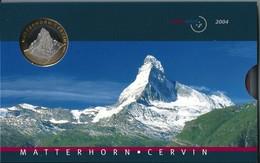 SVIZZERA 2004 - CERVIN - DIVISIONALE FDC - N.° 9 Pezzi - Con 5 + 10 CHF (Fr. Sv.) - Confezione Originale (3 Foto) - Svizzera