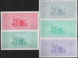 B 97 - OUZBEKISTAN Lot De 5 Billets Année 1992 états Neufs - Uzbekistán