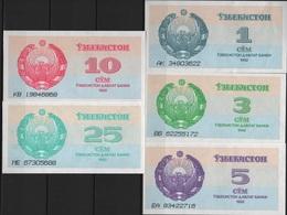 B 97 - OUZBEKISTAN Lot De 5 Billets Année 1992 états Neufs - Uzbekistan