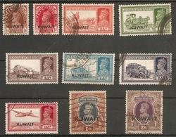 KUWAIT 1939 SET TO 2R SG 36/48 FINE USED Cat £248+ - Kuwait