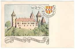 CPA -Estavayer - Châteaux Suisses - Illustration  Ch.A.reuter - FR Fribourg
