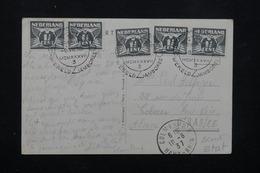 PAYS BAS - Oblitération Temporaire Scoutisme De Vogelenzang En 1937 Sur Carte Postale ( Paquebot Normandie ) - L 22260 - 1891-1948 (Wilhelmine)