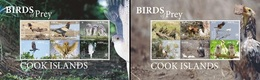 Cook 2018, Birds Of Prey, Eagles, Owls, Hawk, 12val In 2Blocks - Islas Cook