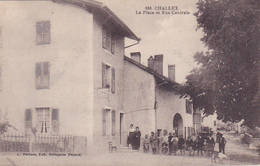 Cpa-01-challex-animée-place , Rue Centrale-edi Michaux N°980 - Autres Communes