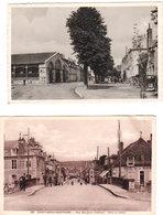 Lot De 2 CPSM SAINT-AMAND-MONTROND ( Cher ) 1 - Cours Manuel 2) Rue Benjamin Constant & Pont Canal - Circulées - Saint-Amand-Montrond