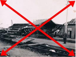 Verneuil Sur Avre Gare Bombardée  1940-44 (photo 6x9 Allemande) Document Rare Pouvant être Agrandi - Verneuil-sur-Avre