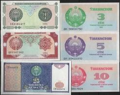 B 98 - OUZBEKISTAN Lot De 6 Billets Année 1992 Et 1994 états Neufs - Uzbekistan