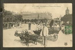 CP-LYON - Place Bellecour, Voiture Des Chévres - Lyon