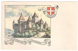 CPA - Chillon - Châteaux Suisses - Illustration  Ch.A.reuter - VD Vaud