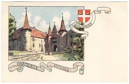 CPA - Colombier - Châteaux Suisses - Illustration  Ch.A.reuter - NE Neuchâtel