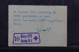 FRANCE - Document Du Censeur Du Stalag VI J - L 22265 - Guerre De 1939-45