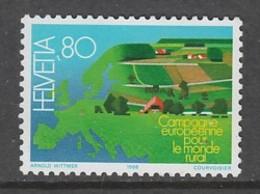 TIMBRE NEUF DE SUISSE - CAMPAGNE EUROPEENNE POUR LE MONDE RURAL N° Y&T 1296 - Agriculture