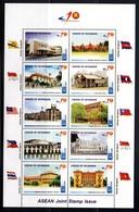 Myanmar Birmanie Burma 281/90 ASEAN, Flag, Architecture - Emissions Communes