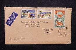 POLYNÉSIE - Affranchissement Plaisant De Papeete Sur Enveloppe Par Avion Pour Lyon En 1966 - L 22268 - Briefe U. Dokumente