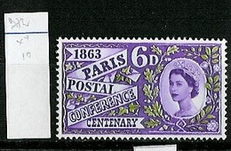Grande Bretagne - Great Britain - Großbritannien 1963 Y&T N°372 - Michel N°356 *** - 6d Conférence Postale - 1952-.... (Elizabeth II)