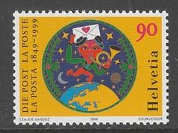 TIMBRE NEUF DE SUISSE - 150E ANNIVERSAIRE DE LA POSTE N° Y&T 1600 - Poste