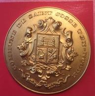 Très Belle Médaille Commune De Saint-Josse Ten-Noode Semaine Sportive 1966 (diamètre 50 Mm) - Jetons De Communes