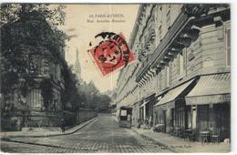 1 Cpa Paris Auteuil - Rue Antoine Roucher - France