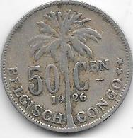 Belgium Congo 50 Centimes 1926 Flemisch Km 23  Vf - 1910-1934: Albert I