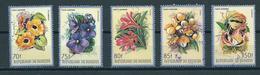 1986 Burundi Set Flowers,fleurs,blümen Used/gebruikt/oblitere..SEE SCANS FOR PERFORATION - 1980-89: Afgestempeld