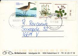 Faroe Islands Postcard Thorshavn 17-11-1998 Sent To Denmark - Faroe Islands