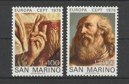 MiNr. 1088 - 1089  San Marino 1975, 14. Mai. Europa: Gemälde. RaTdr. (105); Gez. K 11. - Ungebraucht