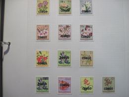 Сongo Kinshassa 1960 Flora Flowers Overprint On Belgian Congo  MVLH - Orchids