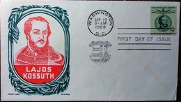 2 Enveloppes Premier Jour: Sep 19 1958 Lajos Kossuth First Day Of Issue - Central America