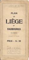 LIÈGE - ANCIEN PLAN EN COULEURS  DE  LA VILLE Et De Ses FAUBOURGS - R. DE ROUCK - Autres