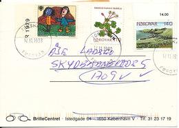 Faroe Islands Postcard Thorshavn 17-11-1998 Sent To Denmark And Returned (unknown At The Address) - Faroe Islands