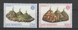 MiNr. 1131 - 1132  San Marino 1977, 14. April. Europa: Landschaften. RaTdr. (510); Gez. K 11 - Ungebraucht