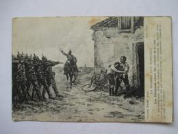 LA GUERRE AUX BARBARES  -  LES ALLEMANDS TUENT DES ENFANTS DE 15 ANS      ILL. CH. TOCHE    ROUSSEURS - Guerre 1914-18