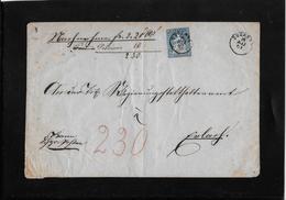 1854-1862 SITZENDE HELVETIA Ungezähnt (Strubel)  → Nahchnahme Brief 1861 Douanne/Twann Nach Erlach - Covers & Documents