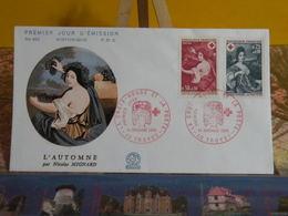 Croix Rouge Et La Poste, L'automne - 10 Troyes - 14.12.1968 FDC 1er Jour N°662 - Coté 4€ - FDC